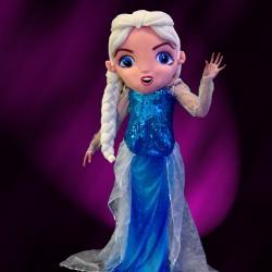 Mascotte Elsa reine des neiges