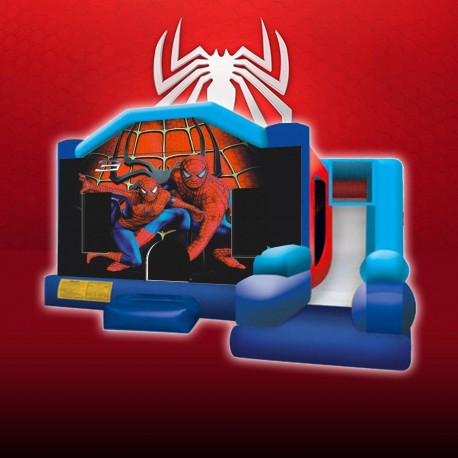 Chateau gonflable Spiderman toboggan
