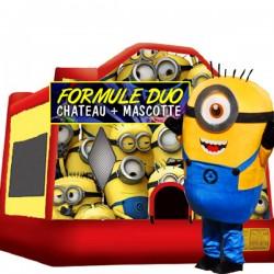 Formule Chateau gonflable et mascotte