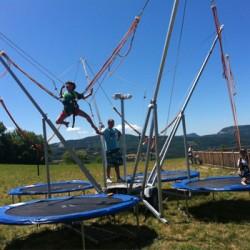 Bungee trampoline elastique
