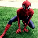 Spiderman cosplay mascotte